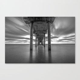 Scripps Black & White Canvas Print
