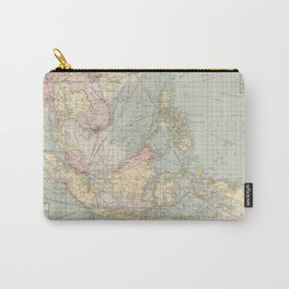Vintage Map of Indonesia and The Philippine Ports (1905) Carry-All Pouch