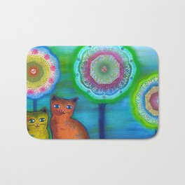Cats and Trees Bath Mat