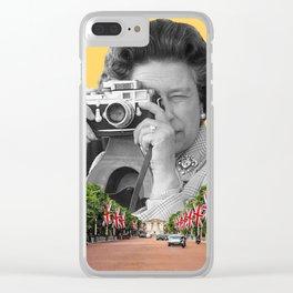 Her Majesty Queen Elizabeth II Clear iPhone Case