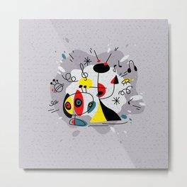 Music inspired by Joan Miro#illustration Metal Print