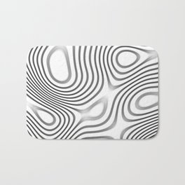 Organic Abstract 01 WHITE Bath Mat