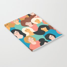 CUTE ALL-OVER WOMENS MARCH PATTERN Notebook