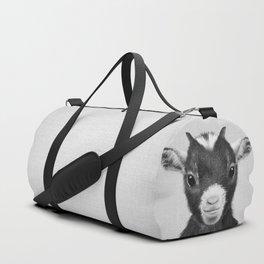 Baby Goat - Black & White Duffle Bag