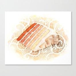 Ombre Cake Slice Canvas Print