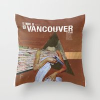 vancouver Throw Pillows featuring Locals Only - Vancouver by Matthew Billington