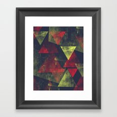 weathered triangles Framed Art Print