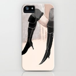 Lady with shoes  iPhone Case
