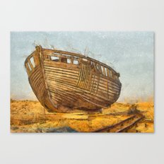 Painted Boat Dungeness Canvas Print