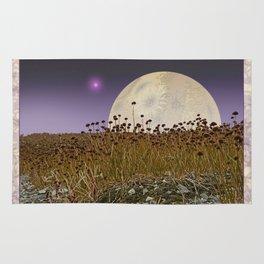 MOONRISE ON A DISTANT WORLD Rug