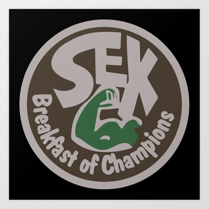 bf6a83374449 James Hunt Sex Breakfast of Champions Retro F1 Art Print by ...
