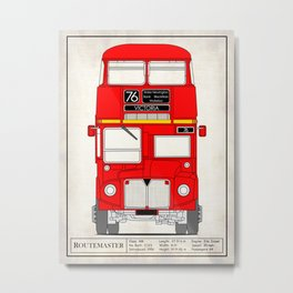 The Routemaster London Bus Metal Print