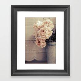 Peaches & Cream Framed Art Print