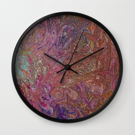 Abstract Art, Fairy Wings, Colorful digital art Wall Clock