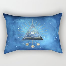 Magic Eye Blue Universe Rectangular Pillow