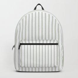 Small Desert Sage Grey Green Mattress Ticking Backpack