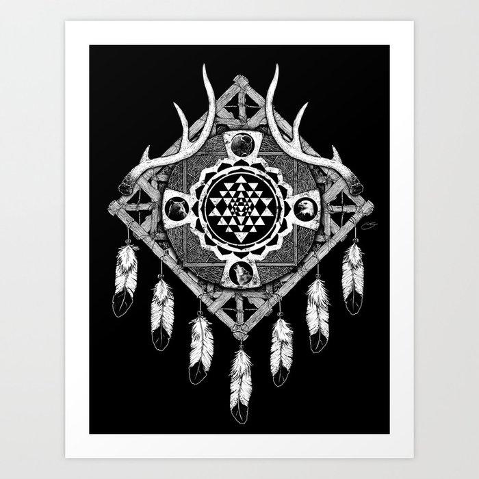 Sri Yantra Dreamcatcher Art Print