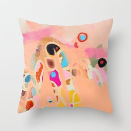 coral summer Throw Pillow