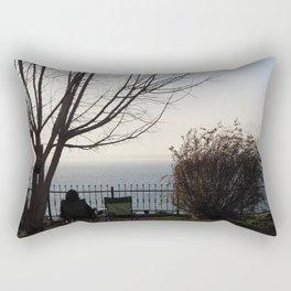 Seat on the cliff Rectangular Pillow