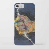 lightning iPhone & iPod Cases featuring Lightning by Michael Creese