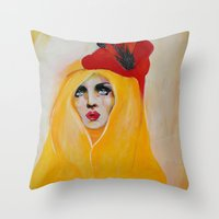 broken Throw Pillows featuring Broken by Felicia Atanasiu
