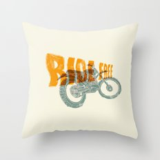 Ride free motocross Throw Pillow