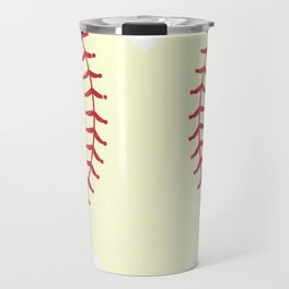 Vintage Retro Baseball Heart I Baseball Valentines Day Travel Mug