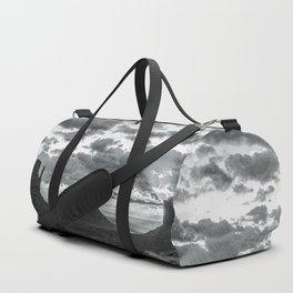 Southwest Wanderlust - Monument Valley Sunrise Black and White Duffle Bag