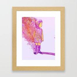 Flame doodle Framed Art Print