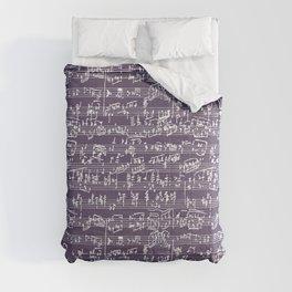 Hand Written Sheet Music // Honey Flower Comforters