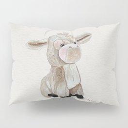 Cuddly Donkey Watercolor Pillow Sham