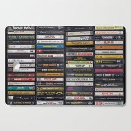 Old 80's & 90's Hip Hop Tapes Cutting Board