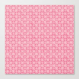 Carved Grid in Pink Canvas Print