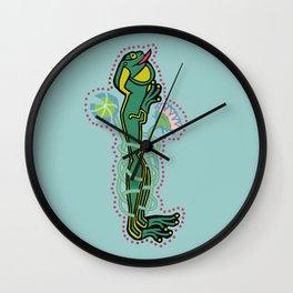 Celtic Medieval Frog Letter I 2020 Wall Clock