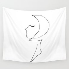 Oneline Lady Wall Tapestry