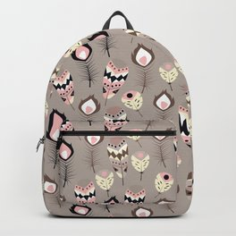 Tribal feather pattern 032 Backpack