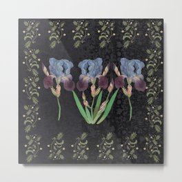 The invitation of the Iris Metal Print