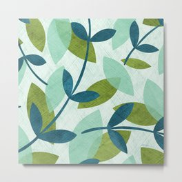 Simple Leaves Metal Print