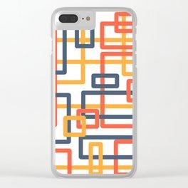 Railroad orange Clear iPhone Case