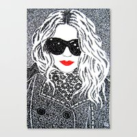 chic Canvas Prints featuring CHIC by The Curly Whirl Girly.