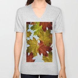 Autumn Leaf Brite Unisex V-Neck