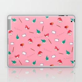 Pink Shark and Whale Shark Laptop & iPad Skin