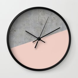 Concrete and Pale Dogwood Color Wall Clock