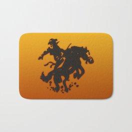 Cowboy Bronco Riding Bath Mat
