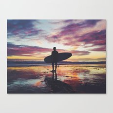 Surfing pure Color Canvas Print