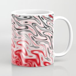 Fractal Rise in Red Black and White Coffee Mug