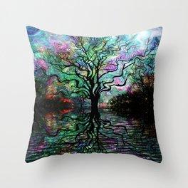Van Goghs Aurora Borealis Reflection Throw Pillow