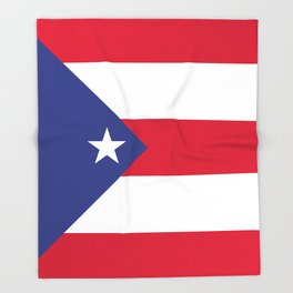 Puerto Rico flag emblem Throw Blanket