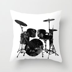 Watercolor drum Throw Pillow