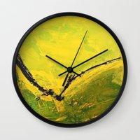flight Wall Clocks featuring Flight by RvHART